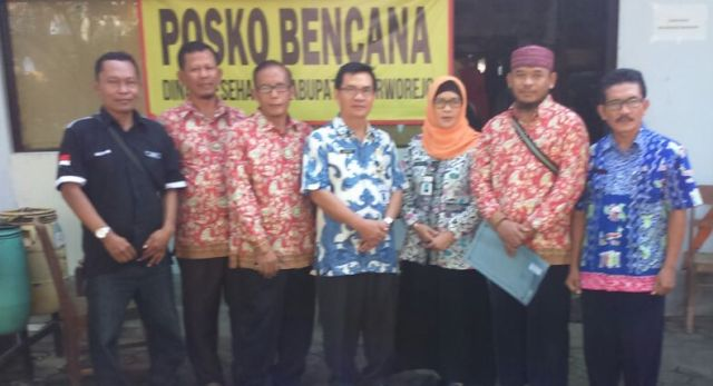 PPNI DPW Sragen Menyerahkan Bantuan Kepada Korban Bencana di Purworejo