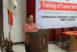 Sambutan oleh Dr. Untung Sujianto, S.Kp. M.Kes