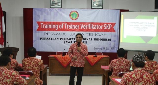 Training of Trainer Verifikator SKP di PPNI Jawa Tengah